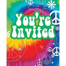 Tie Dye Invitations (8-pack)