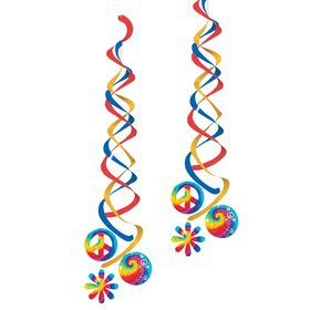 Tie Dye Party Dangling Cutout (2-pack)