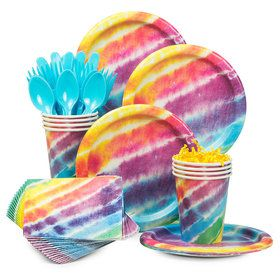 Tie Dye Standard Tableware Kit (Serves 8)
