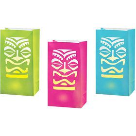 Tiki LED Luminaries Decorations (6 Pack)