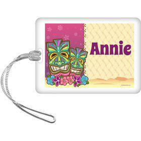 Tiki Party Personalized Bag Tag (each)