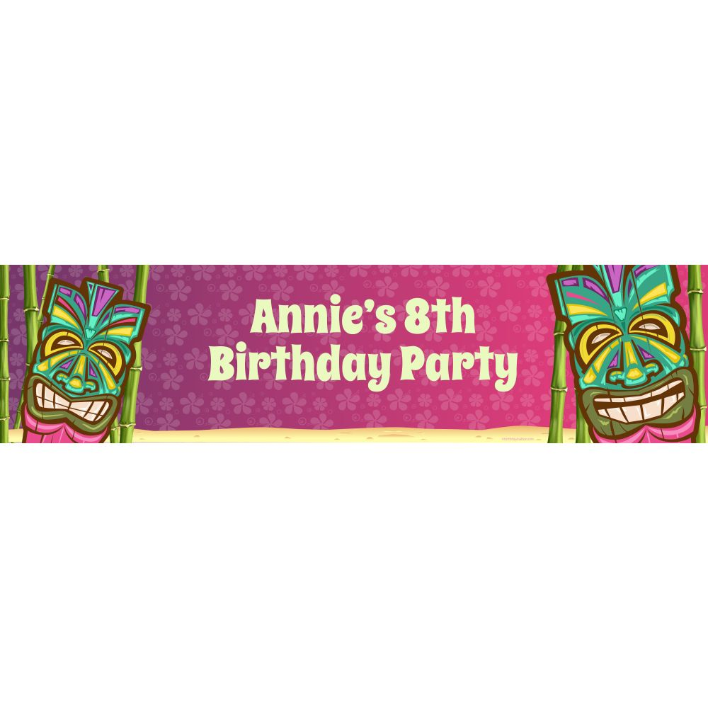 Tiki Party Supplies Personalized Banner (each) BB016152