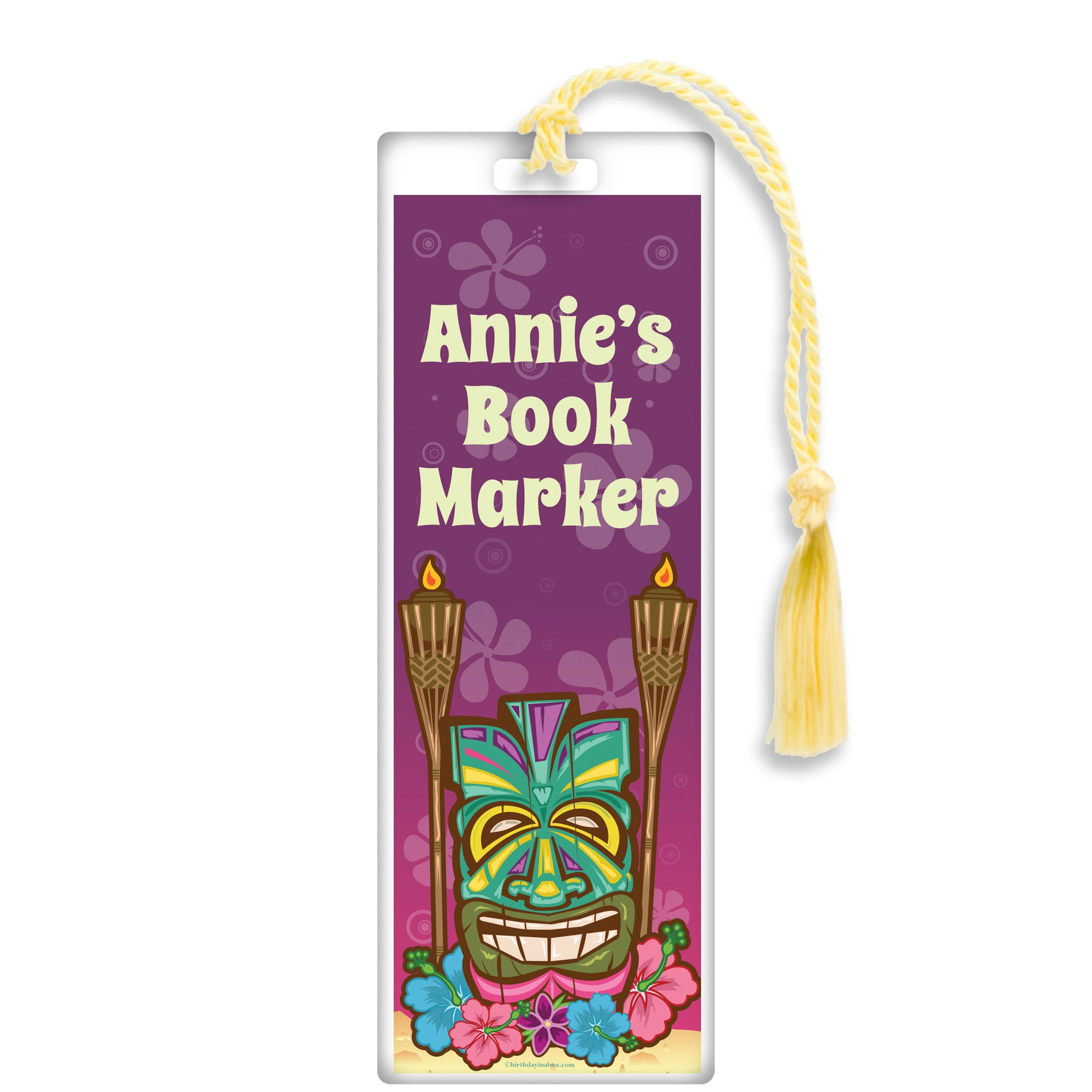 Tiki Party Personalized Bookmark (Each) BB016157
