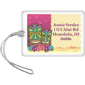 Tiki Party Personalized Luggage Tag (each)