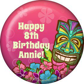 Tiki Party Personalized Magnet (each)