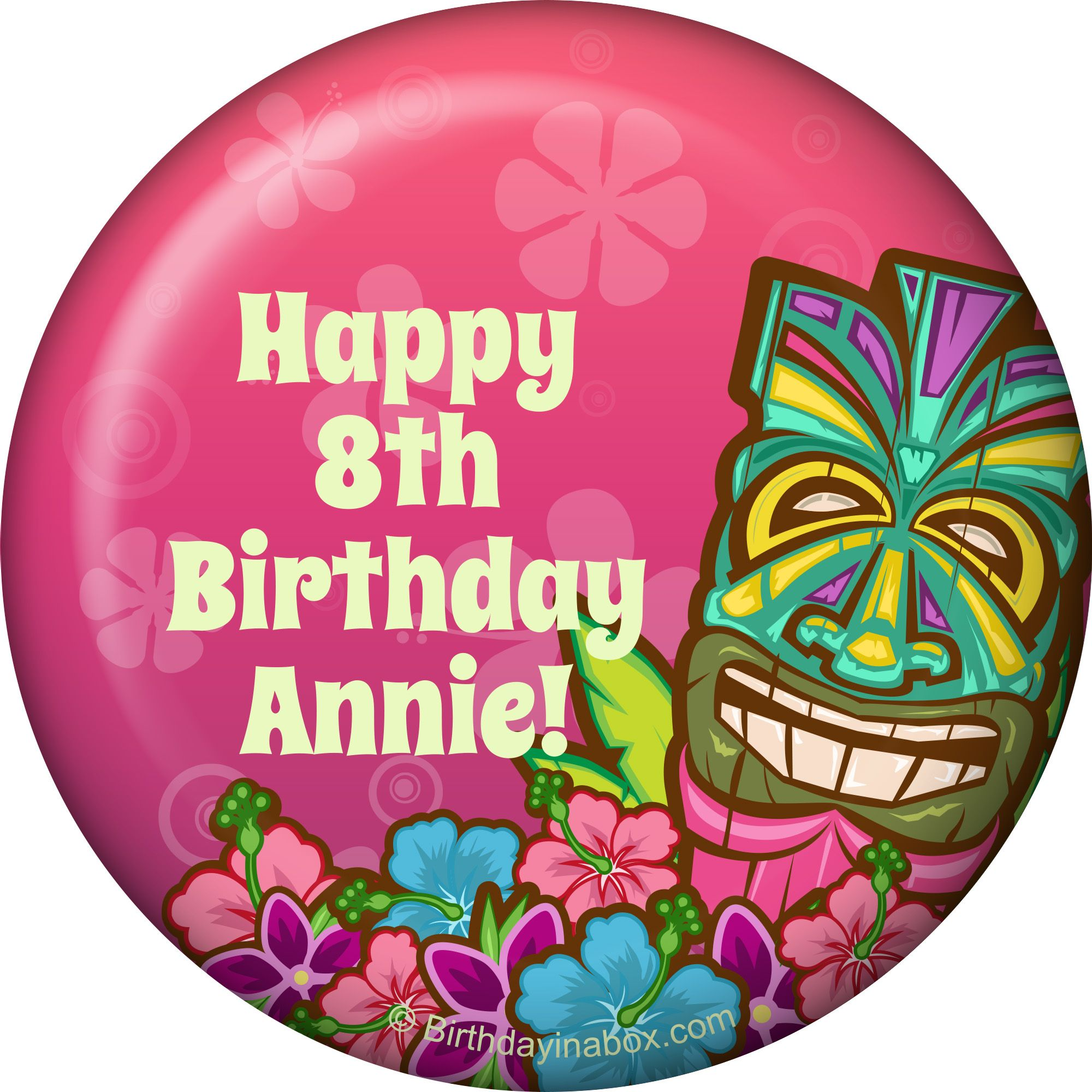 Tiki Party Personalized Magnet (Each) BB016150