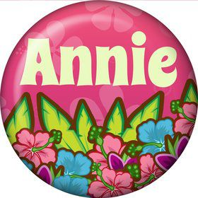Tiki Party Personalized Mini Magnet (each)
