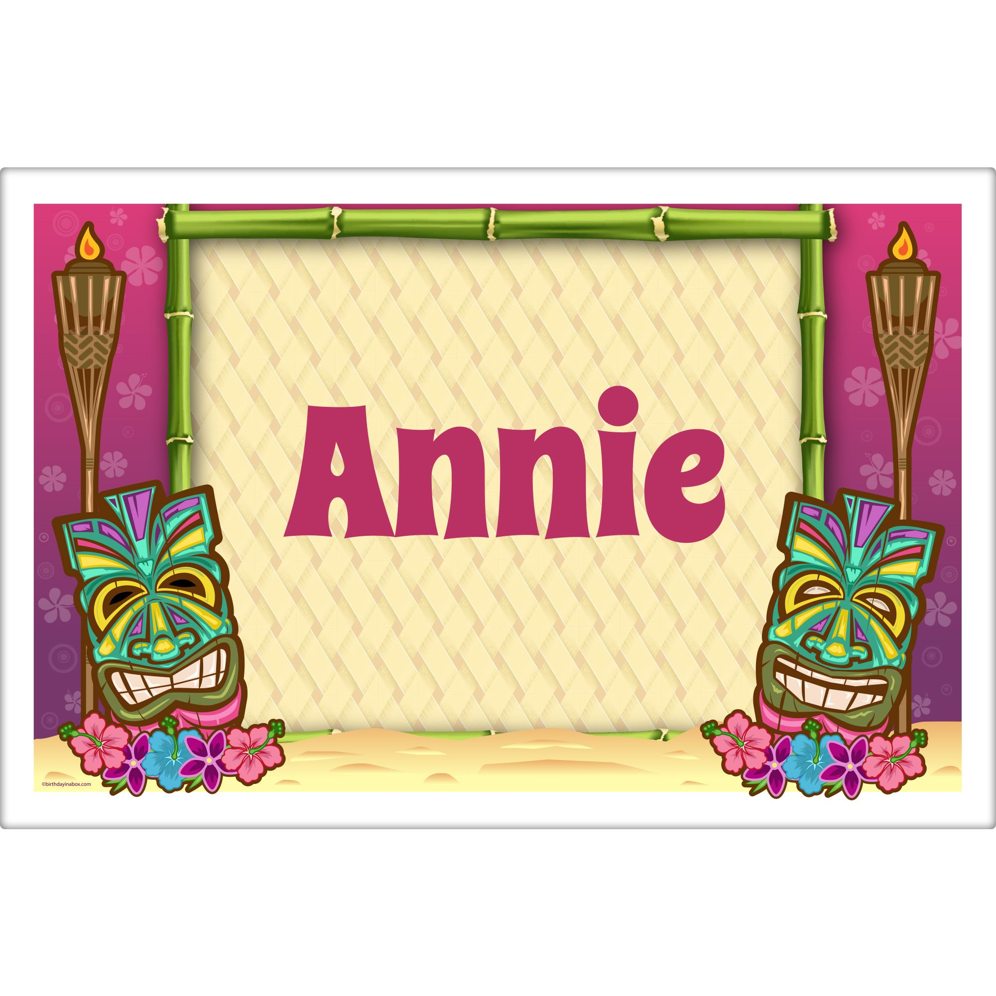 Tiki Party Personalized Placemat (Each) BB016156