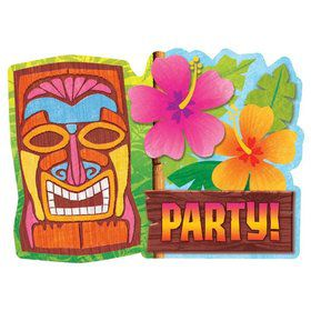 Tiki Party Value Invitation Pack (20 Count)