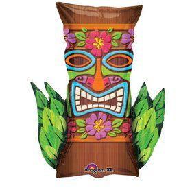 Tiki Time Shape Foil Balloon (Each)