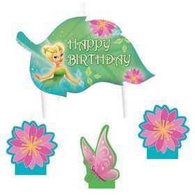 Tinkerbell Birthday Candle Set (4 Pack)