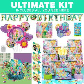 Tinkerbell Birthday Party Ultimate Tableware Kit Serves 8
