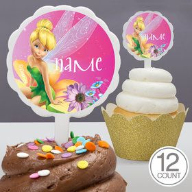 Tinkerbell Personalized Cupcake Picks (12 Count)