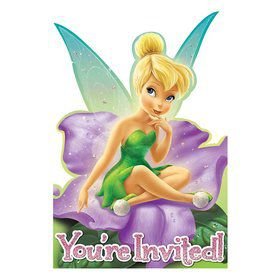 Tinkerbell Postcard Invitations (8 Pack)