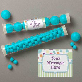 Tiny Bundle Blue Personalized Candy Tubes (12 Count)
