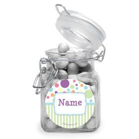 Tiny Bundle Blue Personalized Glass Apothecary Jars (12 Count)