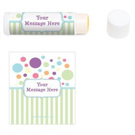 Tiny Bundle Blue Personalized Lip Balm (12 Pack)