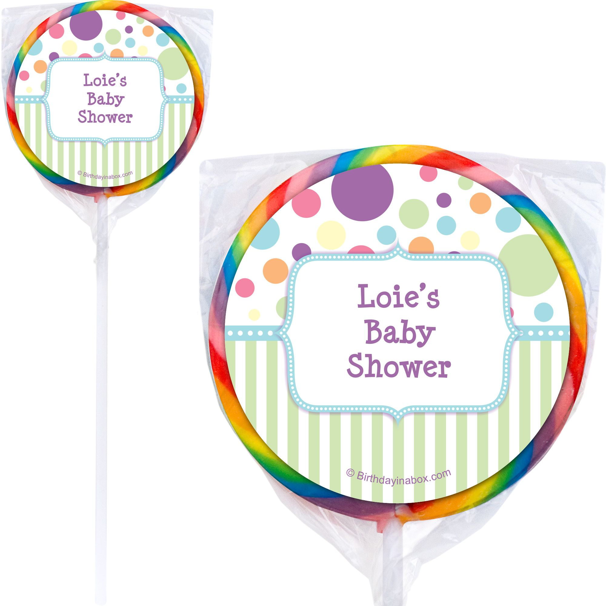 Tiny Bundle Blue Personalized Lollipops (12 Pack) - Party Supplies BB1359PP