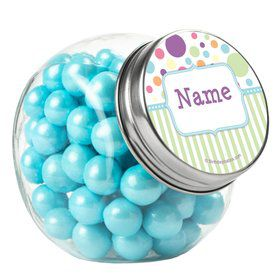 Tiny Bundle Blue Personalized Plain Glass Jars (12 Count)