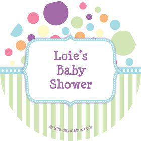 Tiny Bundle Blue Personalized Stickers (Sheet of 12)
