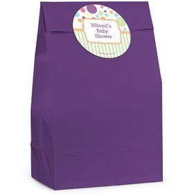 Tiny Bundle Neutral Personalized Favor Bag (Set Of 12)