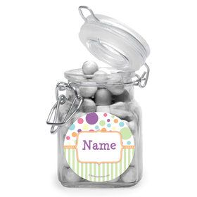 Tiny Bundle Neutral Personalized Glass Apothecary Jars (12 Count)