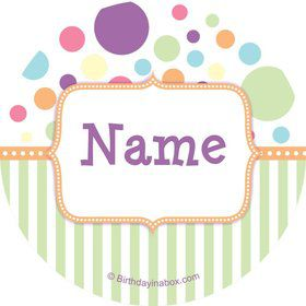 Tiny Bundle Neutral Personalized Mini Stickers (Sheet of 24)