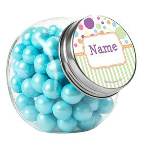 Tiny Bundle Neutral Personalized Plain Glass Jars (12 Count)
