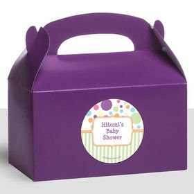Tiny Bundle Neutral Personalized Treat Favor Boxes (12 Count)
