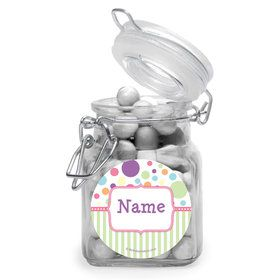 Tiny Bundle Pink Personalized Glass Apothecary Jars (12 Count)