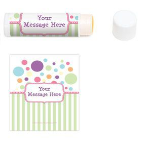 Tiny Bundle Pink Personalized Lip Balm (12 Pack)
