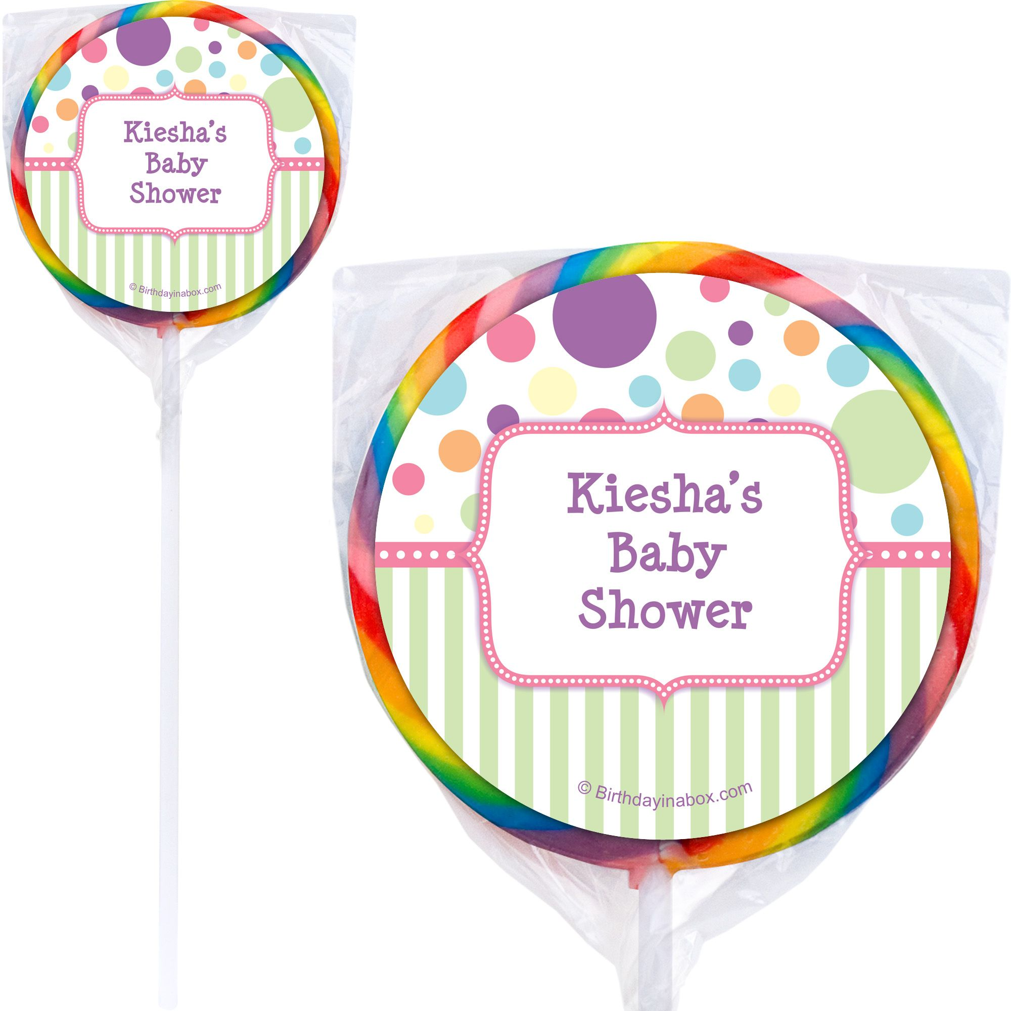 Tiny Bundle Pink Personalized Lollipops (12 Pack) BB1360PP-W