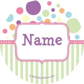 Tiny Bundle Pink Personalized Mini Stickers (Sheet of 24)