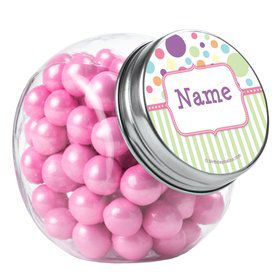 Tiny Bundle Pink Personalized Plain Glass Jars (12 Count)