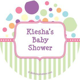 Tiny Bundle Pink Personalized Stickers (Sheet of 12)