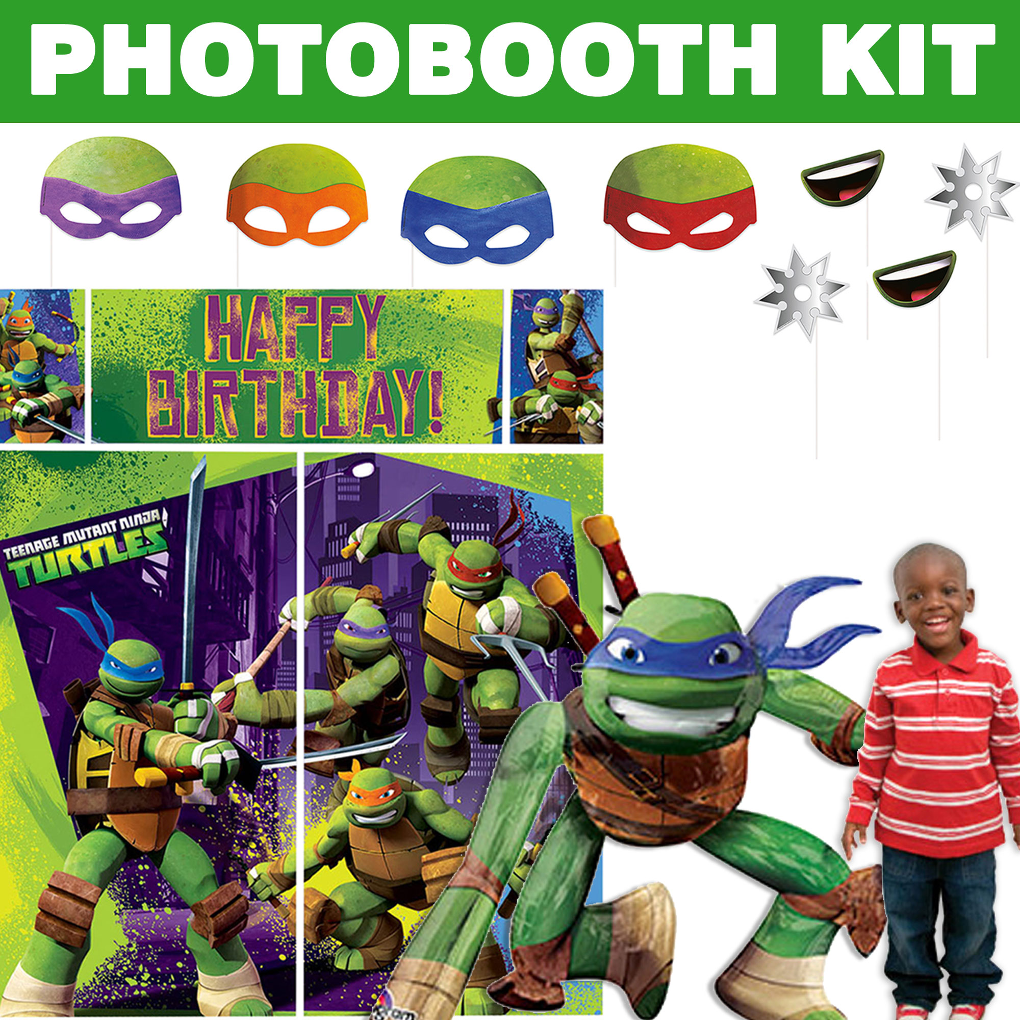 Tmnt Deluxe Photo Booth Kit BBKIT1026D