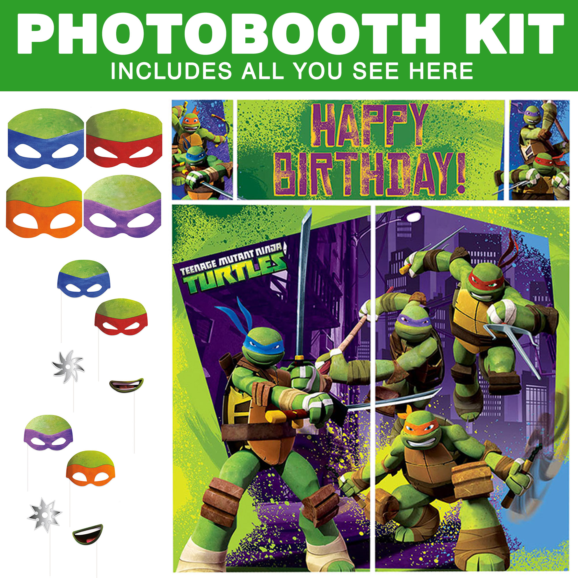 Tmnt Photo Booth Kit BBKIT1026