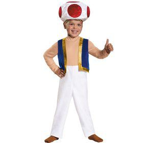 Toddlers Super Mario Brothers Toad Costume