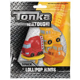 Tonka Trucks Lollipop Rings (3 Count)
