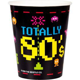 Totally 80's Cups 9oz (8 Pack)