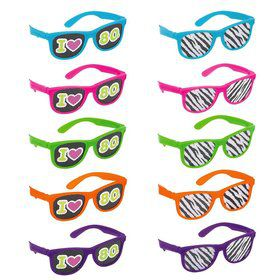 Totally 80's Printed Favor Glasses (10 Pack)