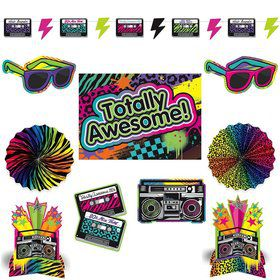 Totally 80's Room Decorating Kit (Each)