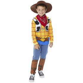Toy Story 4 Child Woody Hooded Shirt and Pants Costume