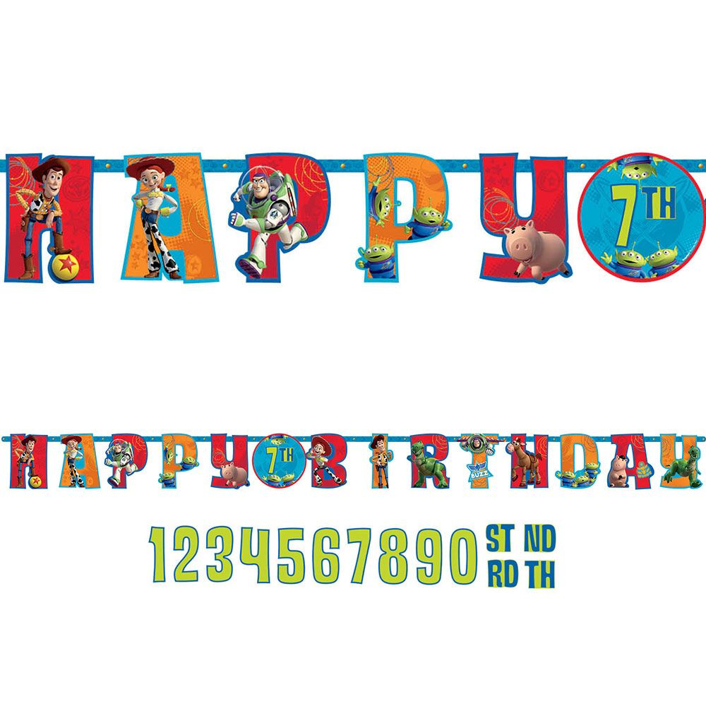Toy Story Add-An-Age Letter Banner (Each) BB129594