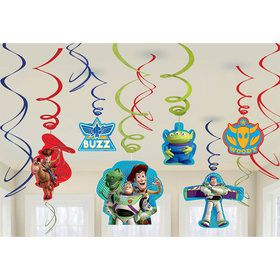 Toy Story Foil Hanging Swirl Decorations (Each)