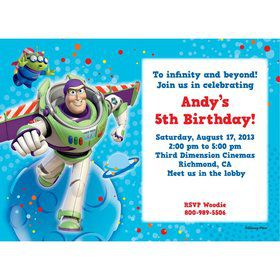 Toy Story Personalized Invitation (Each)