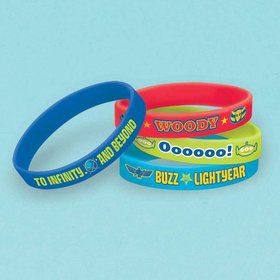 Toy Story Rubber Bracelet Favors (4 Pack)