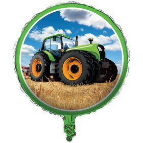 "Tractor Time 18"" Foil Balloon"