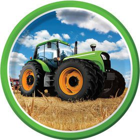 "Tractor Time 9"" Lunch Plates (8 Count)"