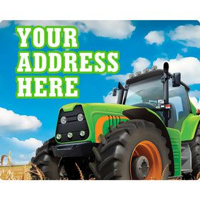 Tractor Time Personalized Address Labels (Sheet of 15)